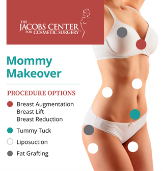A Mommy Makeover at the San Francisco Bay Area's Jacobs Center can consist of one or more of a range of body-contouring procedures.
